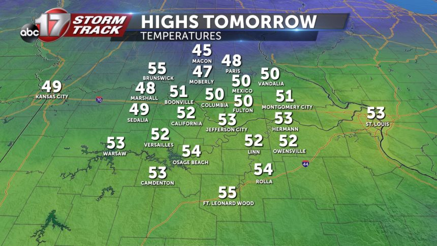 highs tomorrow