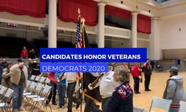 Democrats campaign on Veterans Day
