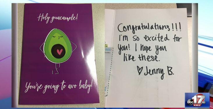'Jenny B.' card