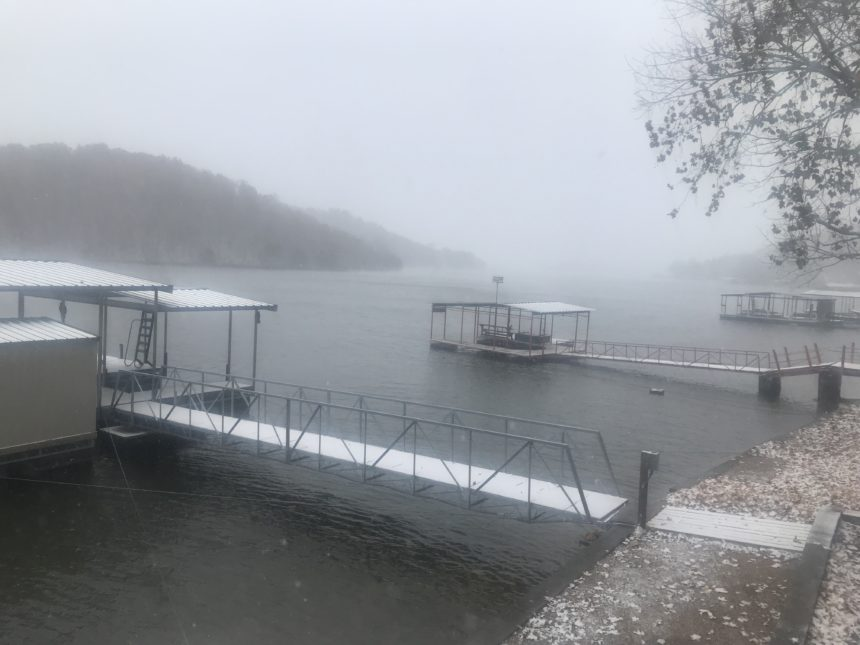 Lake of the Ozarks snow