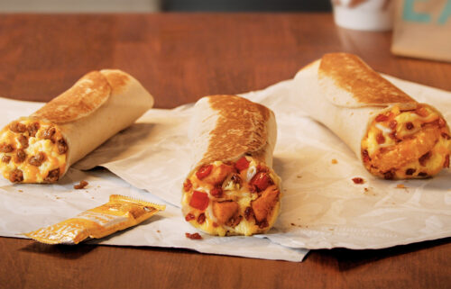 Taco Bell is giving away free breakfast burritos Thursday.